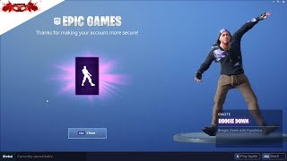 Boogie Down Emote How to Secure Your account on Fortnite !!!!!
