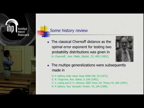 Discriminating quantum states: the multiple Chernoff distance - K. Li - Workshop 2 - CEB T3 2017