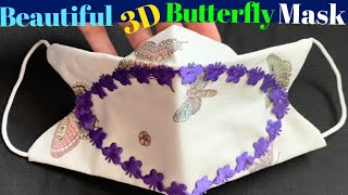 172 How To Make 3D Butterfly Face Mask With Filter Pocket Nose Bridge Easy Hand Sew Tutorial