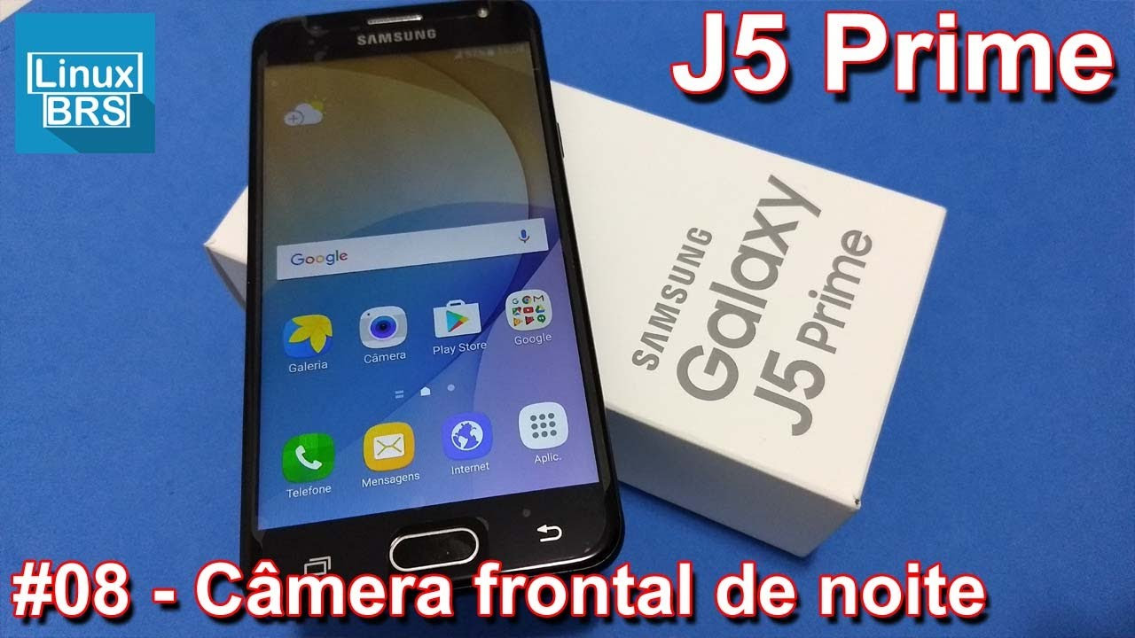 Samsung Galaxy J5 Prime - Câmera frontal a 1080p noite