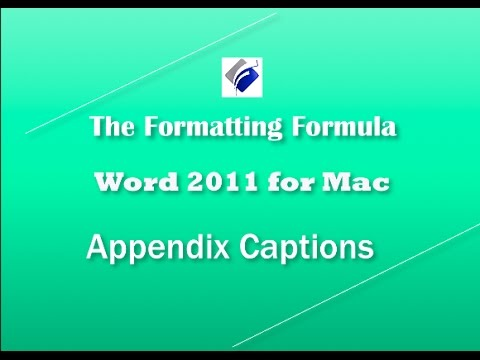 how to add appendix in word mac