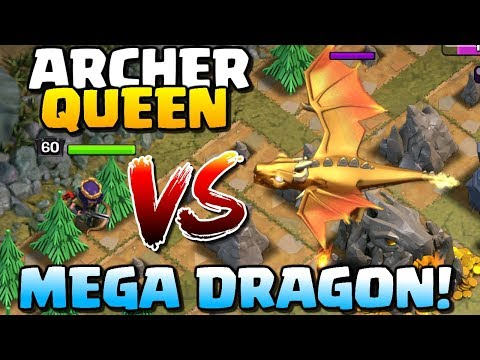 GIANT DRAGON vs ARCHER QUEEN | New Dragon's Lair MEGA DRAGON | Clash of Clans Update!