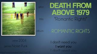 Death from Above 1979 - Romantic Rights (synced lyrics)