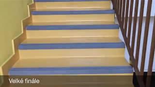 Barevná renovace schodiště