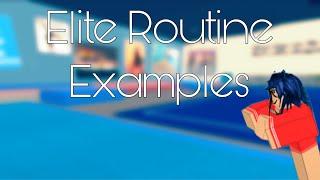 Elite Routine Examples   ROBLOX Gymnastics