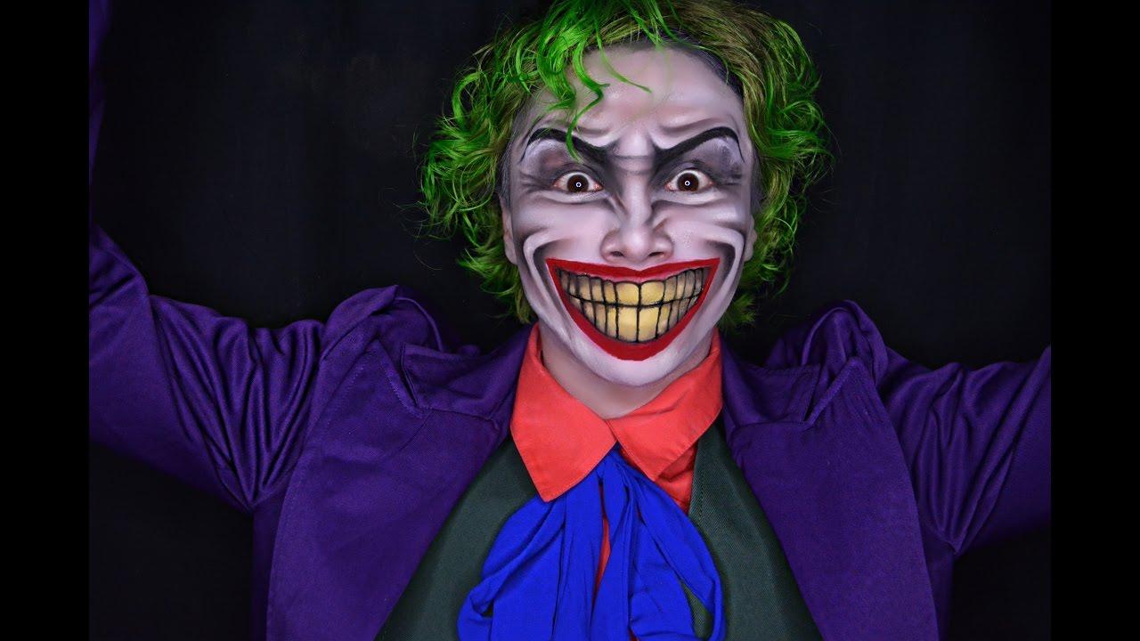 Joker Halloween Makeup Tutorial DC Comics - YouTube