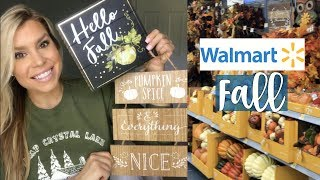 NEW FALL DECOR WALMART | SHOP WITH ME + HAUL