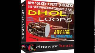 Dhool loops bpm106,key A Flat 4 black