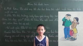 Tiếng Việt lớp 2 [Tập đọc ] : Bím tóc đuôi sam  (Đoạn 1, 2)
