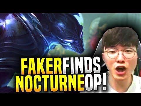 Faker Finds Out That Nocturne is OP? - SKT T1 Faker Plays Nocturne Jungle! | SKT T1 Replays