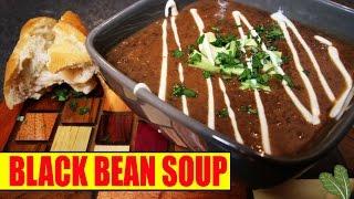 Black Bean Soup Recipe (VEGAN)