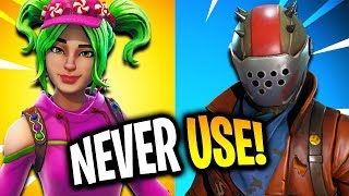 Top 10 Fortnite Skins You Have but NEVER USE! (Fortnite Battle Royale)