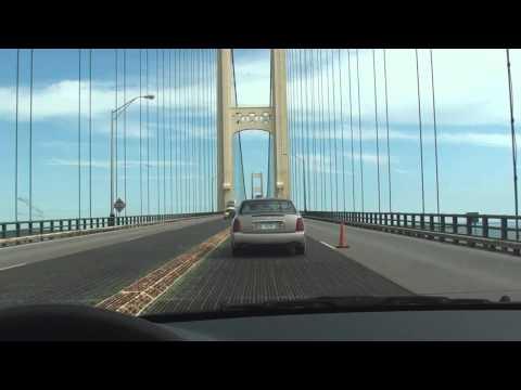 Northern Michigan scenery and crossing of Mackinac bridge.