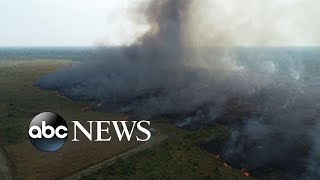 Amazon fires create respiratory issues for people of Brazil l ABC News