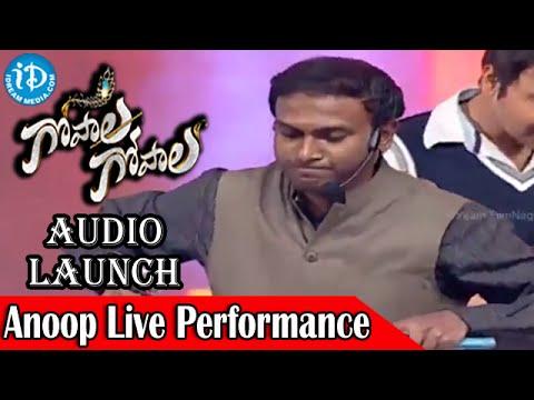 Anoop Rubens Live Performance   Gopala Gopala Audio Launch   Pawan Kalyan   Venkatesh