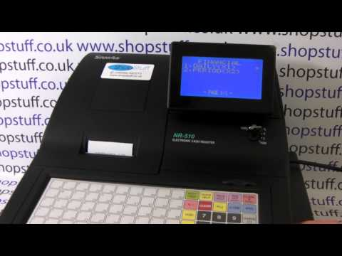 HOW TO ISSUE A X1 REPORT ON THE SAM4S NR-510RF CASH REGISTER