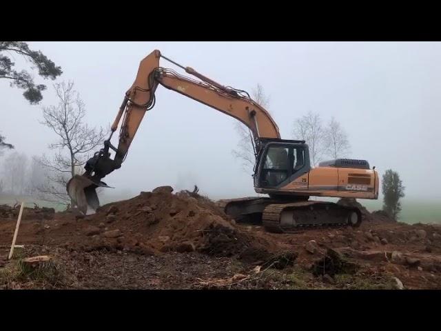 32tons Case arbetar med att snlägga hustomt