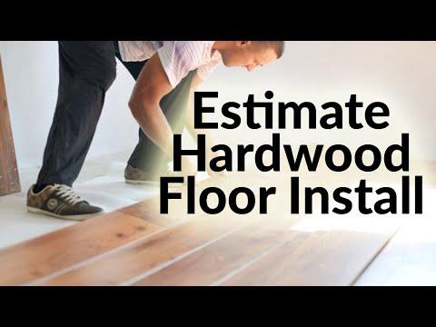How to Estimate hardwood floor installation costs in Excel - HD Video Tutorial
