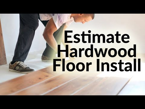 Hardwood Floor Installation Cost Estimation In Excel Youtube