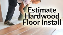 How to Estimate Hardwood Floor Installation Cost per sq ft in Excel