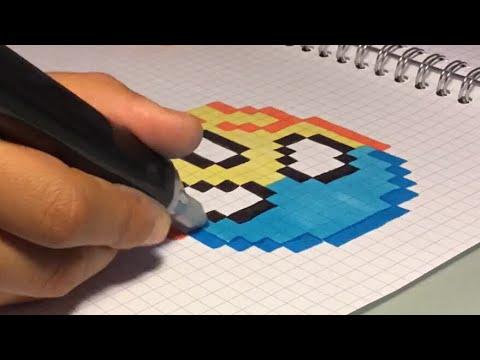Dessin Emoji Effrayé Pixel Art Youtube