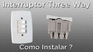 Como instalar interruptor three way paralelo