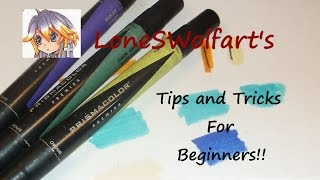 Prismacolor Marker Tips and Tricks for BEGINNERS!