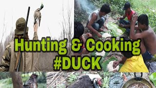 Hunting & cooking duck in jungle