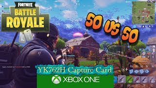 fortnite Battle Royale 50 vs 50 we won raw gameplay Xbox one YK762H Capture Card test