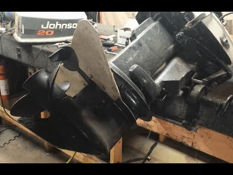 How To Remove 20, 25, 30, 35 HP Outboard Lower Unit / Gearcase