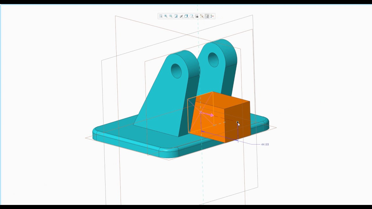Tvorba Drzaku A Vykresu V Ptc Creo Parametric 4 0 Youtube