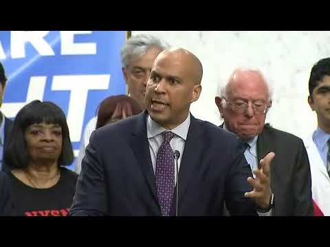 Senator Cory Booker Supports Medicare for all but