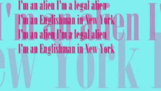 Englishman in New York, Sting - LYRICS