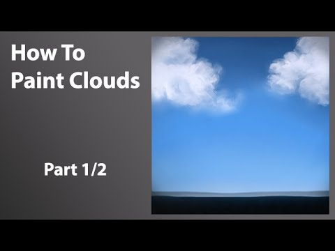 How to paint clouds with corel painter 11 part 1 of 2 youtube