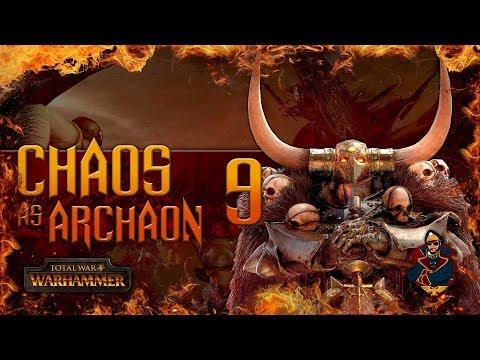 ARCHAON vs TWO CHAOS ARMIES - Total War Warhammer Chaos Campaign (Steel Faith) #9