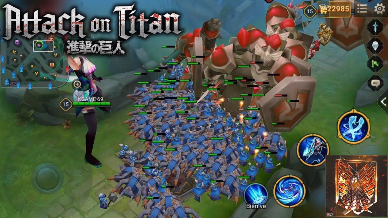 Kinas : ATTACK ON TITAN phiên bản Liên Quân Mobile – Arena of valor animation