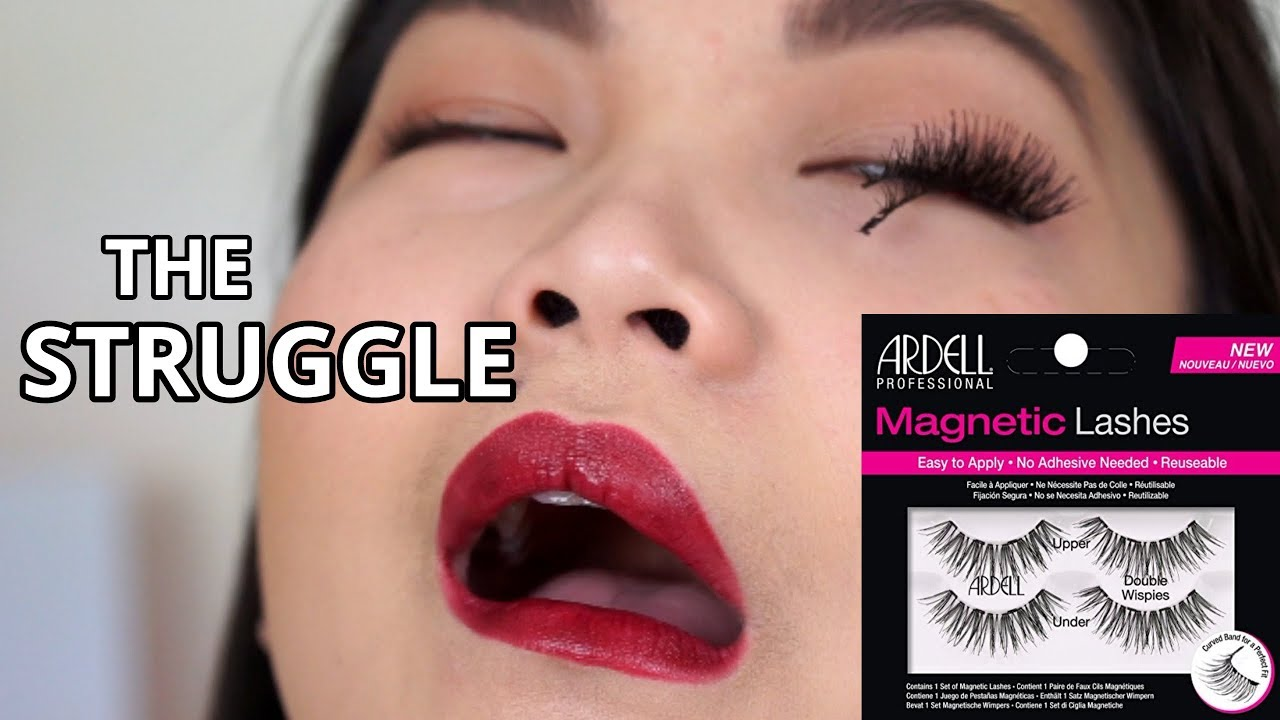 8a79fe6f4ca TRY ON ARDELL MAGNETIC LASHES | FULL DAY WEAR TEST | DOUBLE WISPIES ...