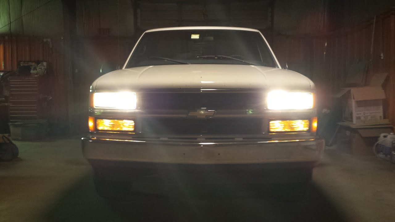 96-98 C/K Pickup quad headlights (and discovering a problem)