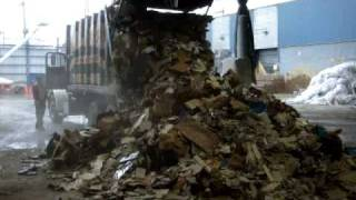Dimola Brothers, New York garbage truck dumping a load 04