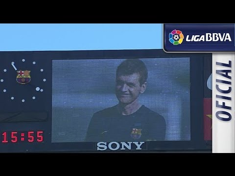 Tito Vilanova's tribute in Camp Nou