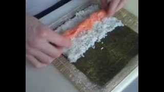 Приготовление ролов, суши!