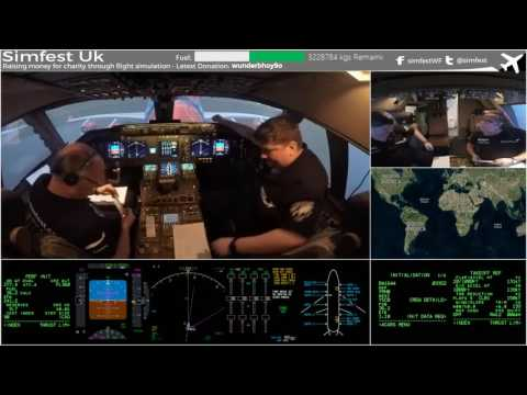 Worldflight 2016: Leg 44 Hobart to Canberra Simfest Boeing 747-400 Home Simulator