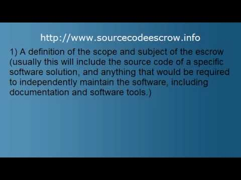 Source Code Escrow
