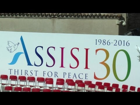 Pope Francis in Assisi to promote peace among religions
