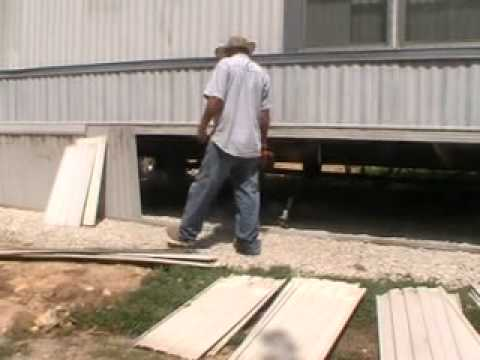 how to build a concrete block skirting