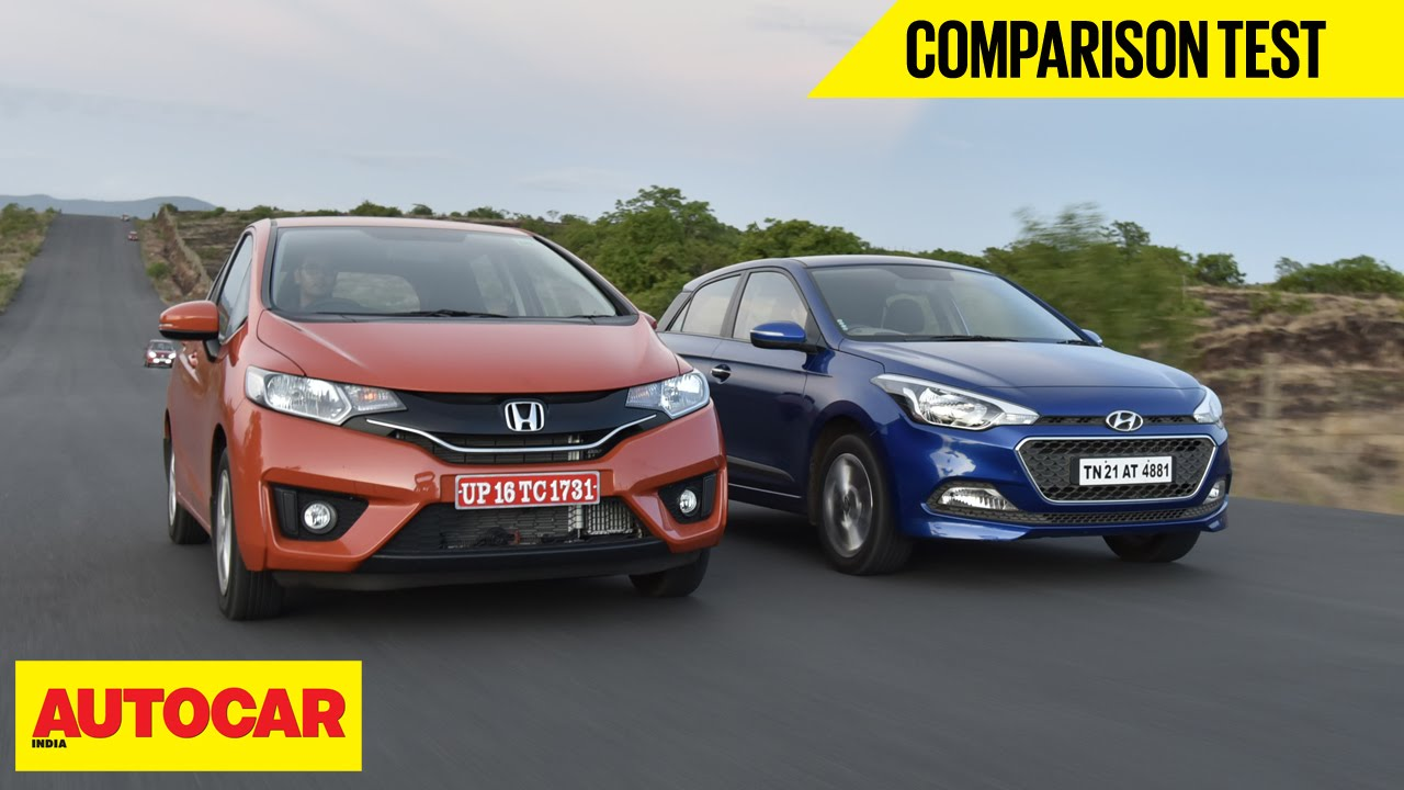 2015 Honda Jazz Vs Hyundai Elite I20 Comparison Test Autocar