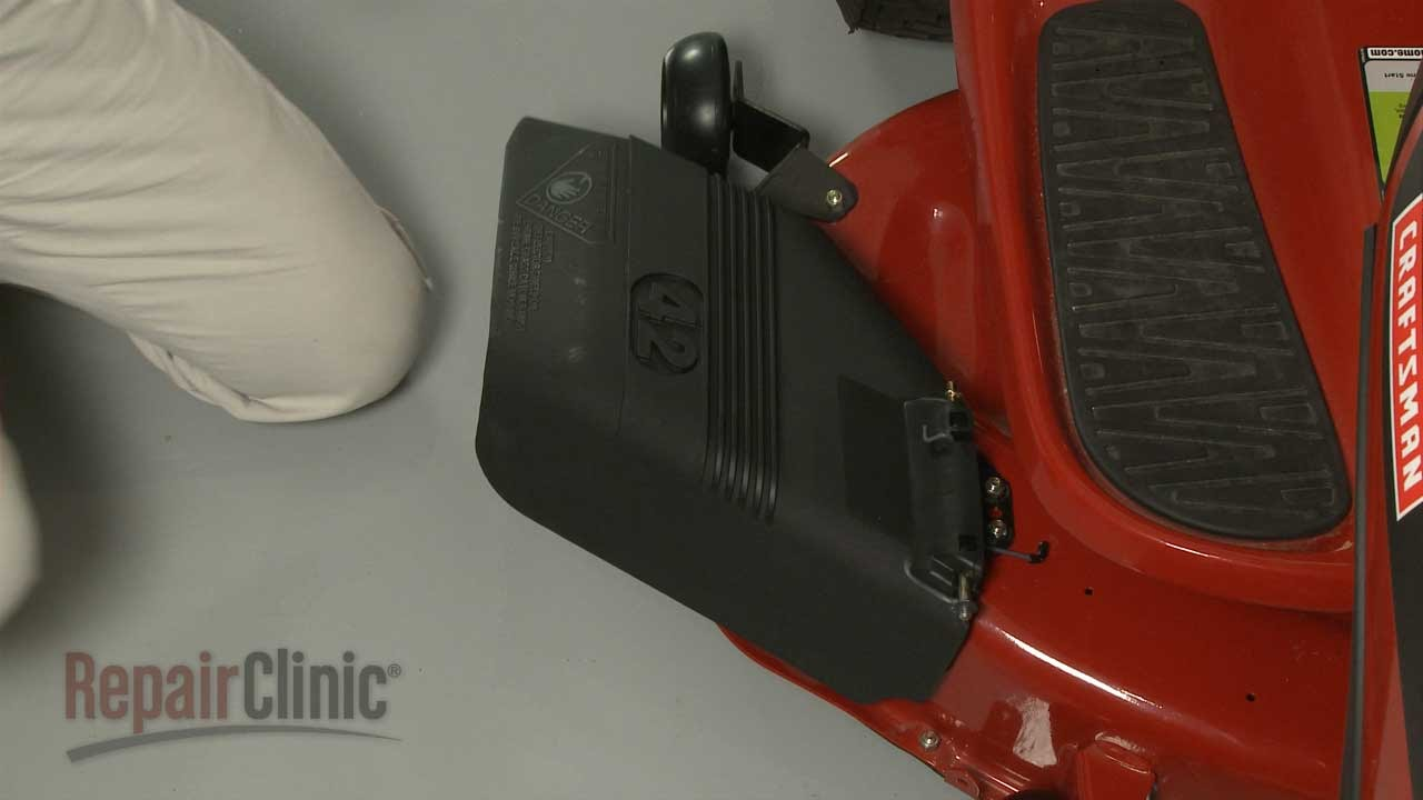 Craftsman Riding Lawn Mower Replace Gr Chute #532130968 - YouTube on