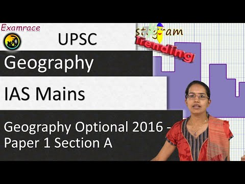 IAS Mains Geography Optional 2016 Solutions: Paper 1 Section A