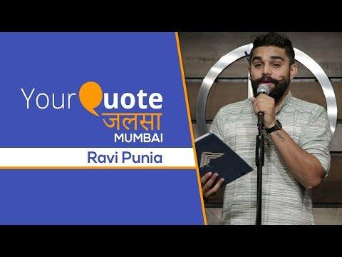 'Yeh Jo Andhere Mein Rehte Hain' by Ravi 'Chand' Punia   Urdu Poetry   YQ - Jalsa 1 (Mumbai)