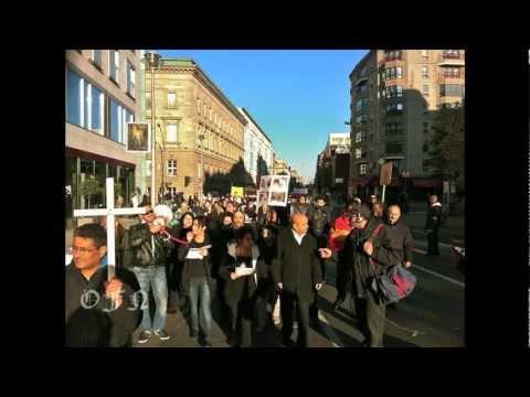 Christians March in Berlin, Germany- Protesting Killings in Egypt Photo story by John De Frank